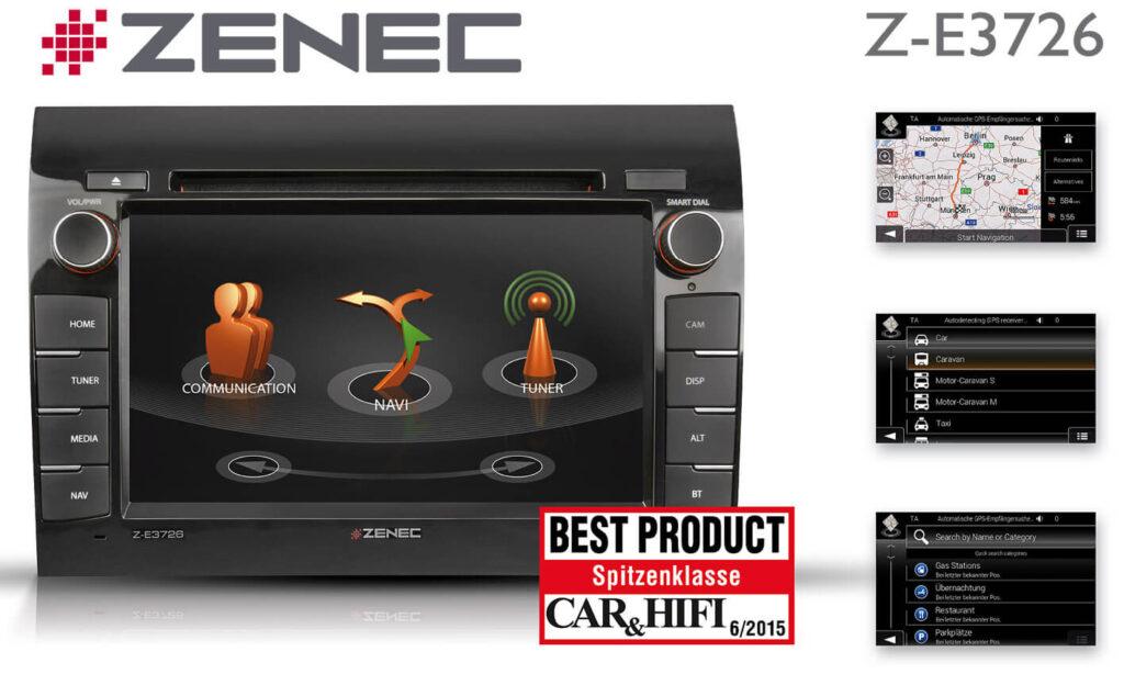 Zenec Z-E3726 Auszeichnung