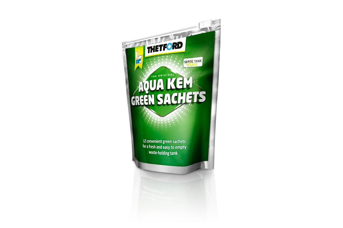 toiletten chemie aqua kem green sachets i love camping. Black Bedroom Furniture Sets. Home Design Ideas