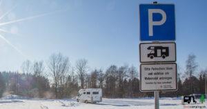 Reisemobilstellplatz Leutkirch Winter - I Love Camping