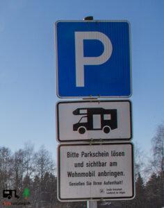 Reisemobilstellplatz Schild - I Love Camping