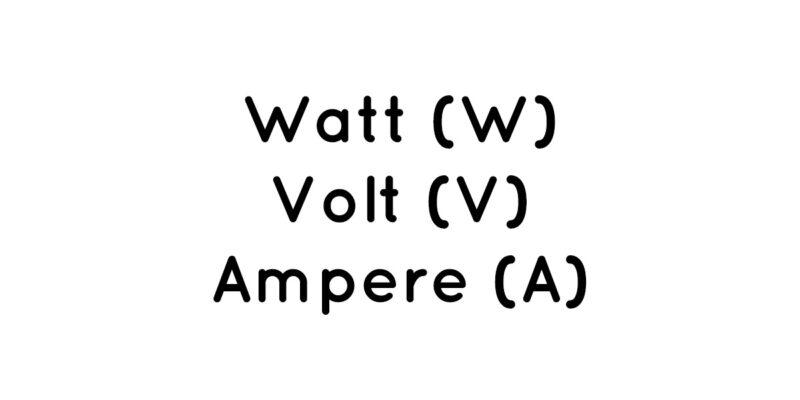 Watt Volt Ampere - I Love Camping