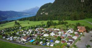 Lazy Rancho Luftaufnahme Interlaken - ilovecamping.ch