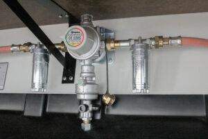 Truma Gasfilter eingebaut Montage Einbau