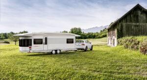 Grosser Wohnwagen - Hobby Landhaus 770 CFf