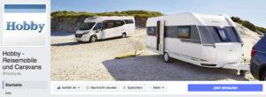 Wohnwagenhersteller Hobby Facebookseite Social Media