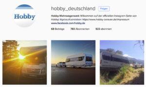 Wohnwagenhersteller Hobby Instagram - I Love Camping