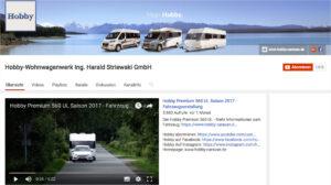 Wohnwagenhersteller Hobby Youtube - I Love Camping