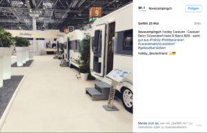 Wohnwagenhersteller Hobby Instagram Caravan Salon Düsseldorf - I Love Camping