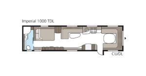 Grosse Wohnwagen - Kabe Imperial 1000 TDL Grundriss