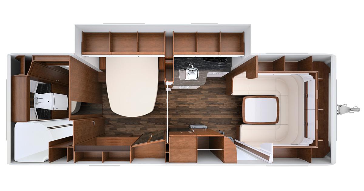 Wohnwagen Etagenbett Grundriss : Die grössten wohnwagen europas i love camping