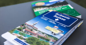 Strassenkarte für einen Roadtrip beim Camping in der Schweiz