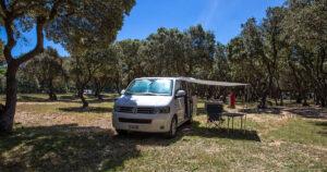 VW Bus als Camper - Camping Strasko
