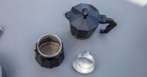 Kaffee beim Campen Moka Express