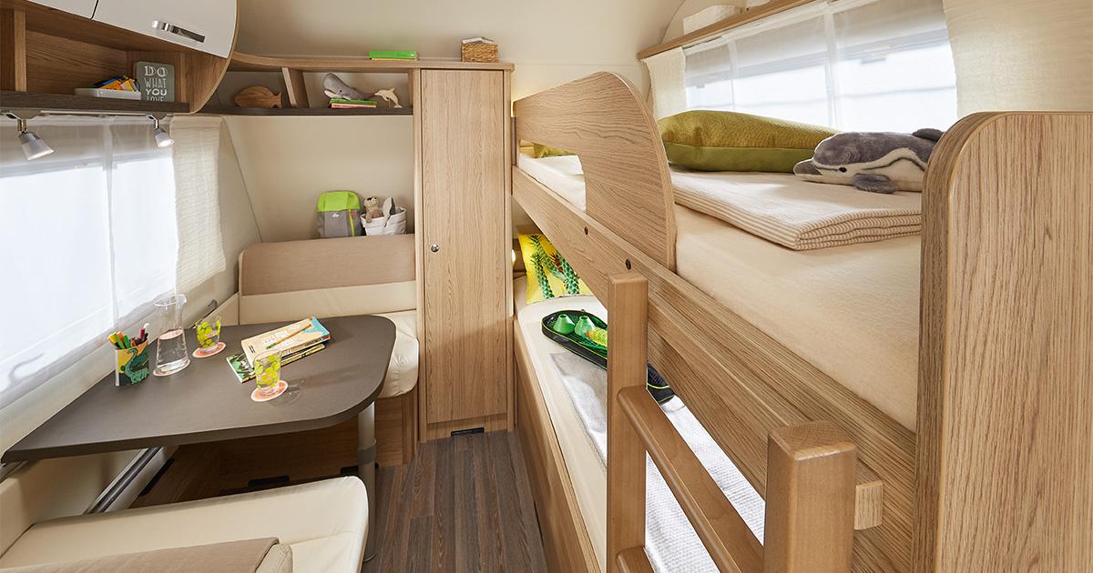 Wohnwagen Mit Etagenbett Und Doppelbett : Wohnwagen für familien eine Übersicht i love camping
