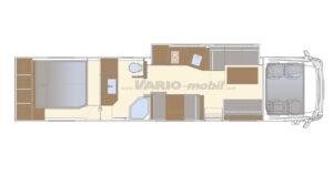 Luxusreisemobil VARIO Signature 1200 Grundriss