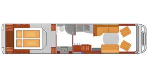 Luxusreisemobil Phoenix L 10600 BMA Grundriss