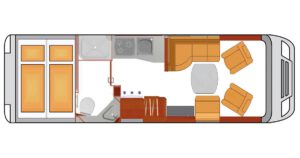 Luxusreisemobil Phoenix ML 7200 G Grundriss