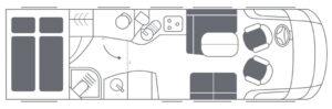 Luxusreisemobil Niesmann Bischoff Flair 840 L Grundriss