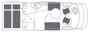 Luxusreisemobil Niesmann Bischoff Smove 6.9 Q Grundriss