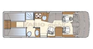 Luxusreisemobil VARIO Star 750 B Grundriss