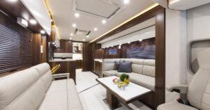 Luxusreisemobil VARIO Signature 1200 Wohnbereich