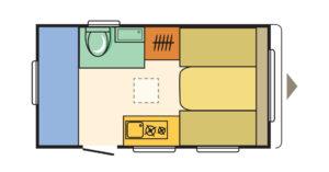 Familienwohnwagen Adria Aviva 360 DK Camping