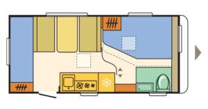 Familienwohnwagen Adria Aviva 472 PK Camping