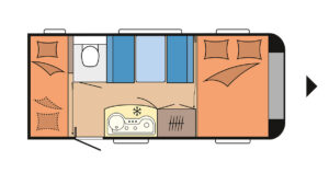 Familienwohnwagen Hobby OnTour 470 KMF Camping