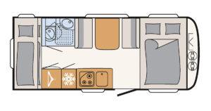 Familienwohnwagen Dethleffs c`go 495 QSK Camping