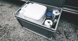 Toilette im VW Bus