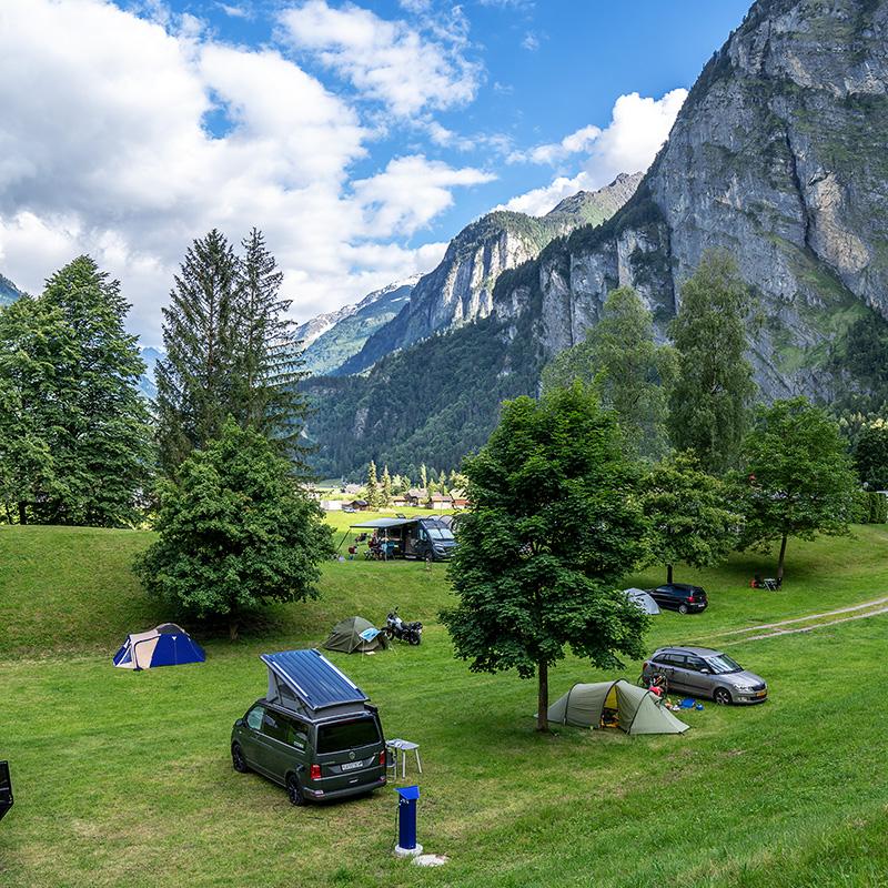 Camping Aareschlucht - I Love Camping